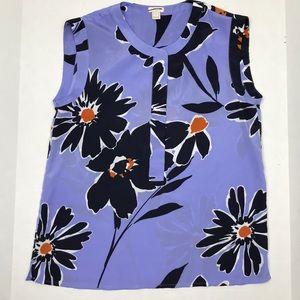 J. Crew Factory Flower Sleeveless Shirt